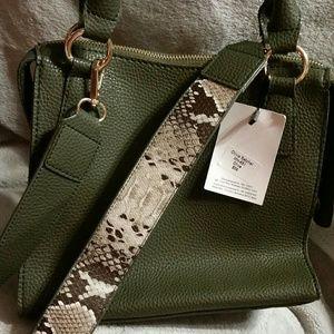Maude Vivante Olivia Satchel MH-651 Olive Bag